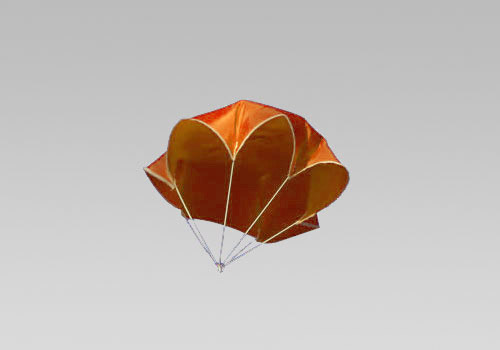 "15"" Neon Orange Nylon Parachute - Click Image to Close"