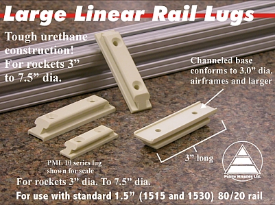 "1.5"" (1515 ) Large Linear Rail Lugs. 2 pack"