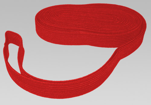"Red Elastic Shock Cord 5/8"" (per yard) - Click Image to Close"
