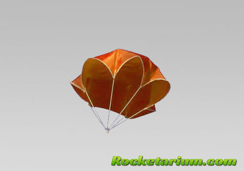 "9"" Neon Orange Nylon Parachute"