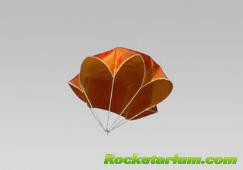 "12"" Neon Orange Nylon Parachute"