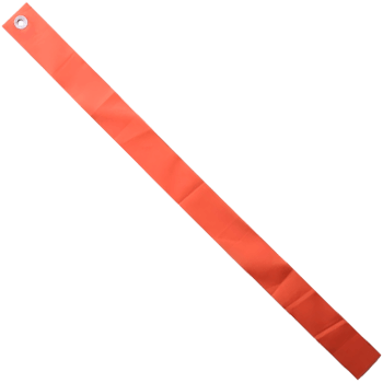 "1.25"" x 17"" Orange Plastic Streamer. 24 Pack"